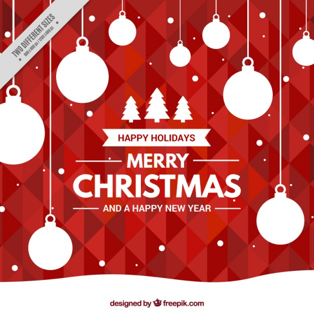 geometric-red-background-with-christmas-balls_23-2147575102