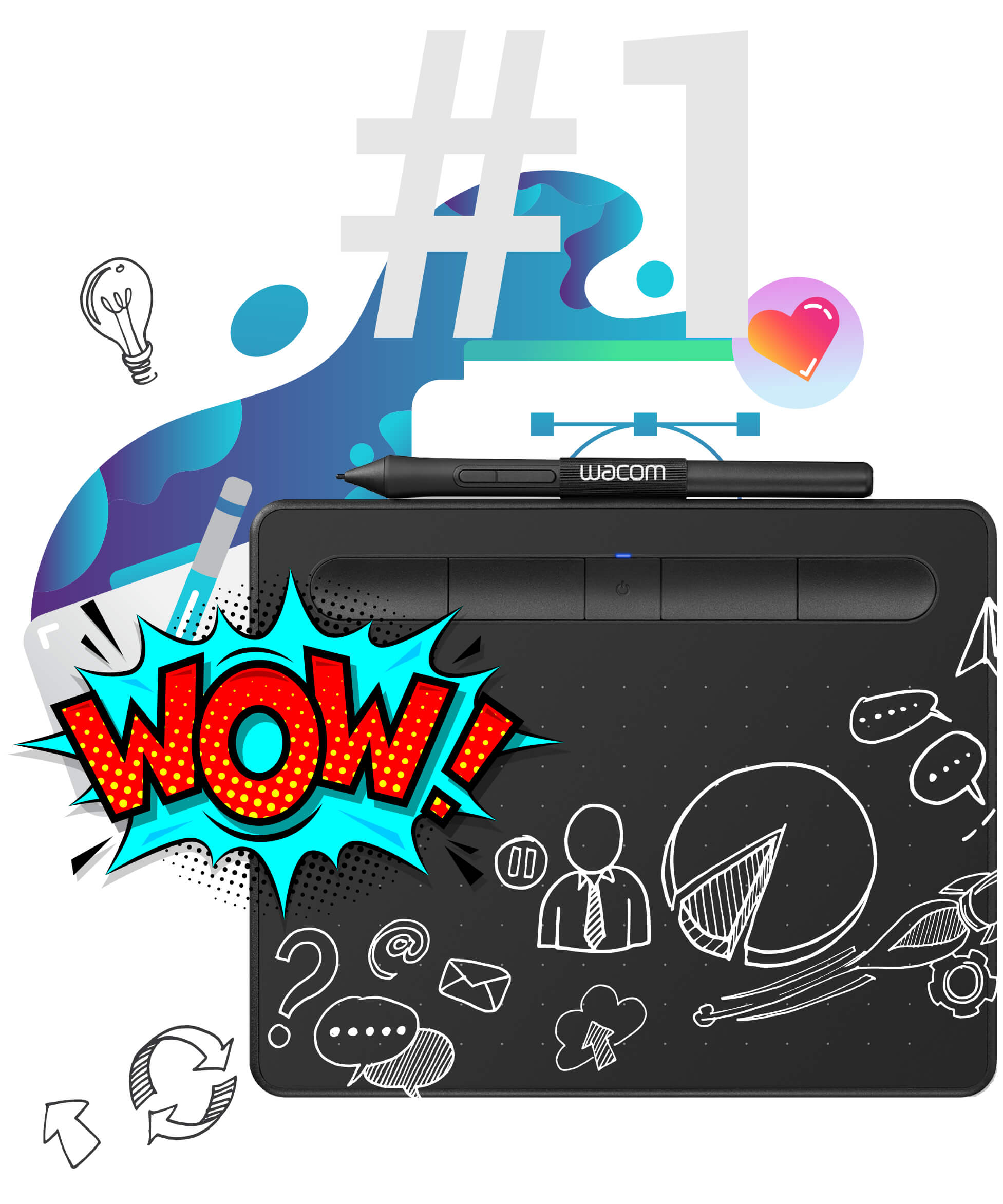 Wacom Intuos S Bluetooth digitális rajztáblát