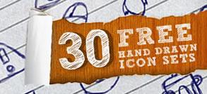 30 ingyenes rajzolt ikon készlet