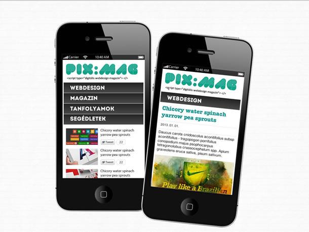 PIX:MAG mobil webdesign